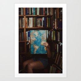 Bookshop, Gloucester MA Art Print