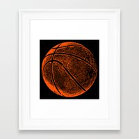 basketball Framed Art Prints featuring Basketball by C Liza B