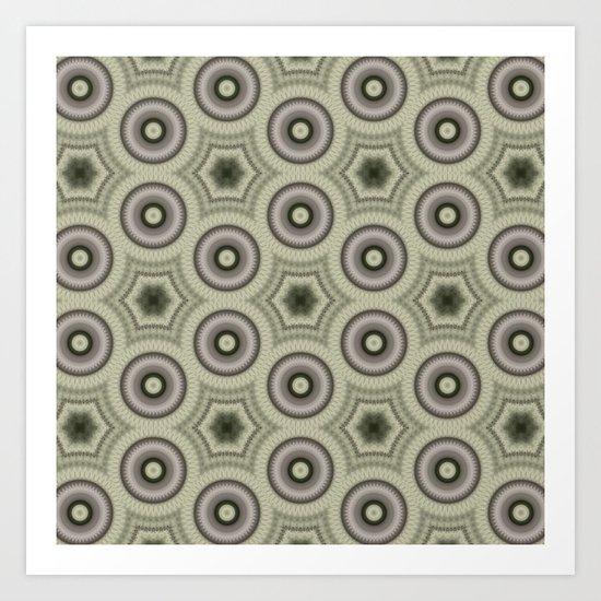 Fractal Cogs n Wheels in CMR03 Art Print