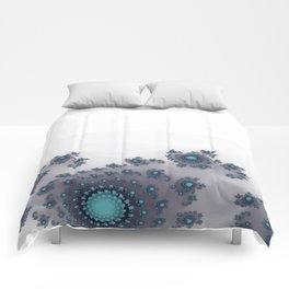 White with Blue Sparkle Comforters