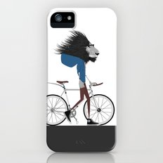 Hipster Lion and his Bicycle iPhone (5, 5s) Slim Case