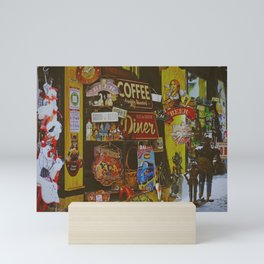 Old Metal Signs in Second-Hand store - Vintage Photography Mini Art Print