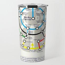 Final Fantasy VII - Midgar Mass Transit System Map Travel Mug