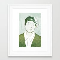 tegan and sara Framed Art Prints featuring Tegan by GirlApe