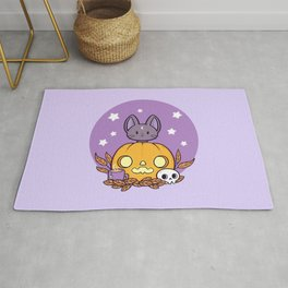 Pumpkin Cats Son Rug