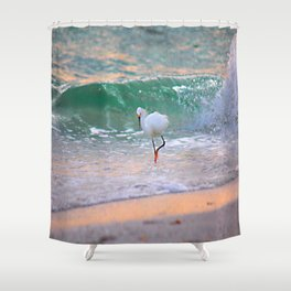 The Sun has set On The shoreline Shower Curtain