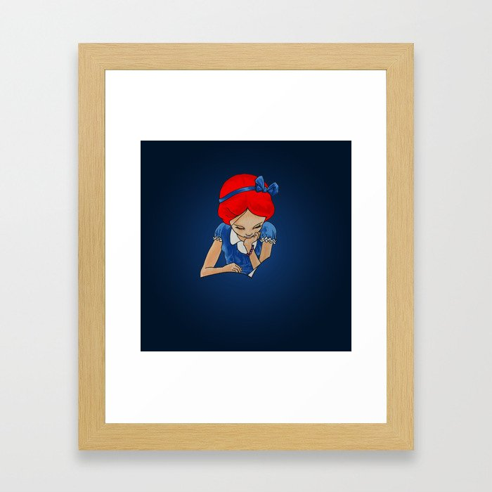 Alice in Readerland Framed Art Print