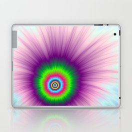 Explosion in Green Purple and Blue Laptop & iPad Skin