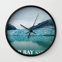 Glacier Bay Travel Poster Wall Clock