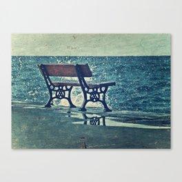 Crashing Into Blue Canvas Print