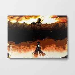 Attack On Titan Metal Print