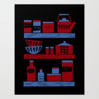 cooking Art Prints featuring Cooking by Jennifer Epstein