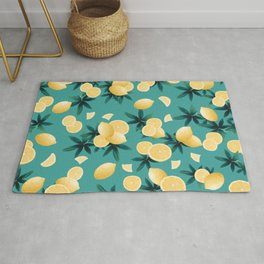 Lemon Twist Vibes #6 #tropical #fruit #decor #art #society6 Rug