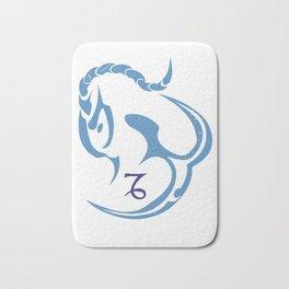 Capricorn, The Sea Goat   God of intelligence - Enki Or Ea Bath Mat