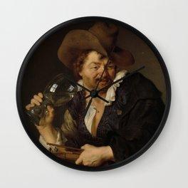 Ary De Vois - The Merry Fiddler Wall Clock