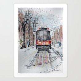 The 501 Neville Park Streetcar Art Print