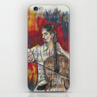 cello iPhone & iPod Skins featuring Cello 1 by Ed Rucker
