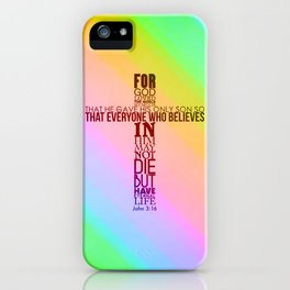 John 3:16 iPhone Case