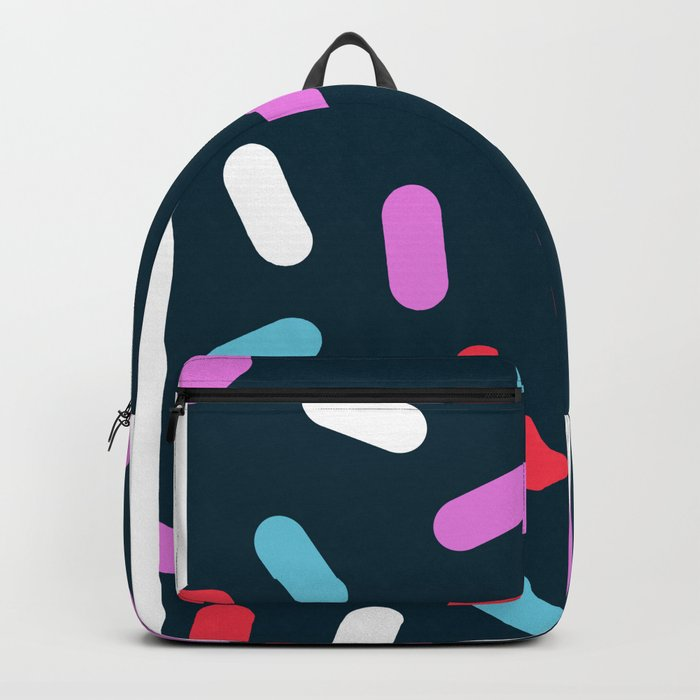 Ralph - pattern design neon bright modern trendy hipster wacka pop art 1980s 80s inspired memphis Backpack