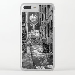 City Life (Black and White) Clear iPhone Case