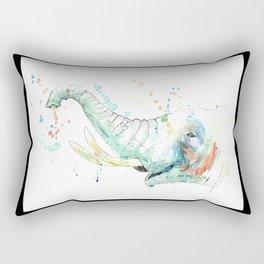 Splashy Elephant Rectangular Pillow