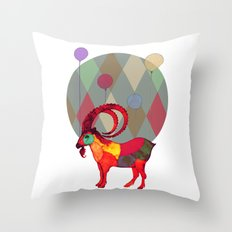 peaceful and happy Throw Pillow