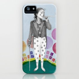clown and lots of dots iPhone Case