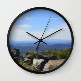 New York from Vermont Wall Clock