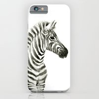 Zebra Watercolor Baby Animals Slim Case iPhone 6s