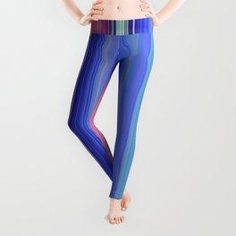 blue vertical stripes Leggings