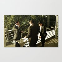 suits Canvas Prints featuring Thats suits  by StreetsOnFilm