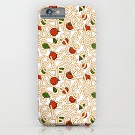 Spaghetti with tomato iPhone Case