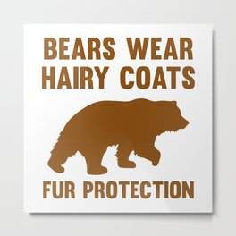 Fur Protection Metal Print