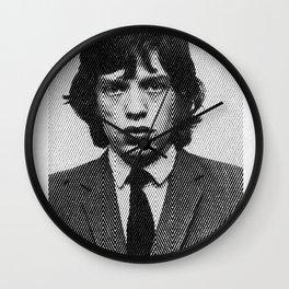 Jagger zigzag hand drawn half tone Wall Clock