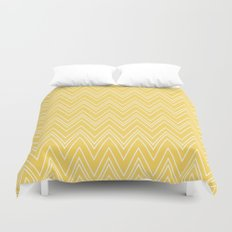Yellow Skinny Chevron Duvet Cover