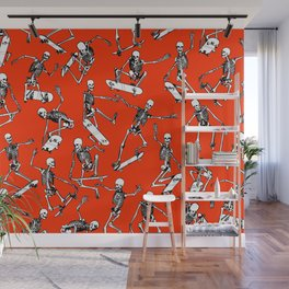 Grim Ripper Skater RED Wall Mural