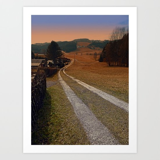 Scenery and a pathway into dawn | landscape photography Art Print