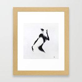 Girl Silhouette Framed Art Print