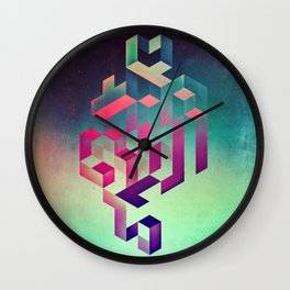 isyhyrtt dyymyndd spyyre Wall Clock