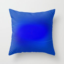 Electric Blue Swirl Throw Pillow