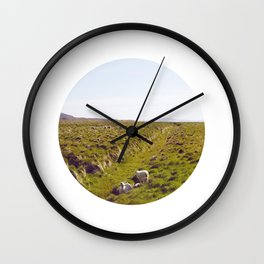 Sheeps in Iceland Wall Clock