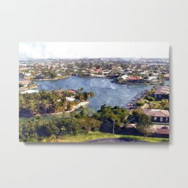 Marco Island Overview (Watercolor) Metal Print