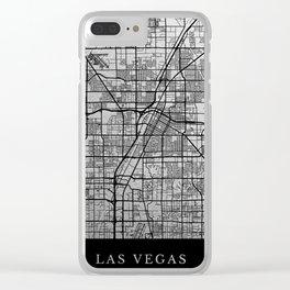 Las Vegas map Clear iPhone Case