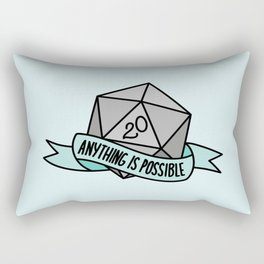 Anything is Possible D20 Rectangular Pillow