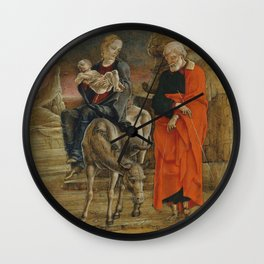 The Flight into Egypt,1470s Wall Clock