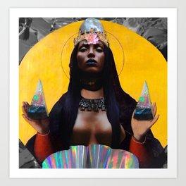 contemporary black madonna Art Print