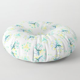 Dotted spirals  Floor Pillow