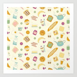 Who else loves breakfast? Art Print