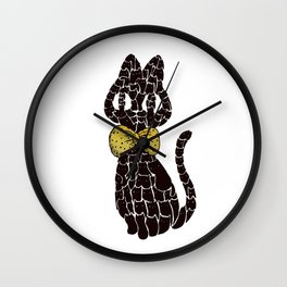 Lucky Lots of Black Cats Wall Clock