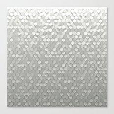 White hexagons Canvas Print